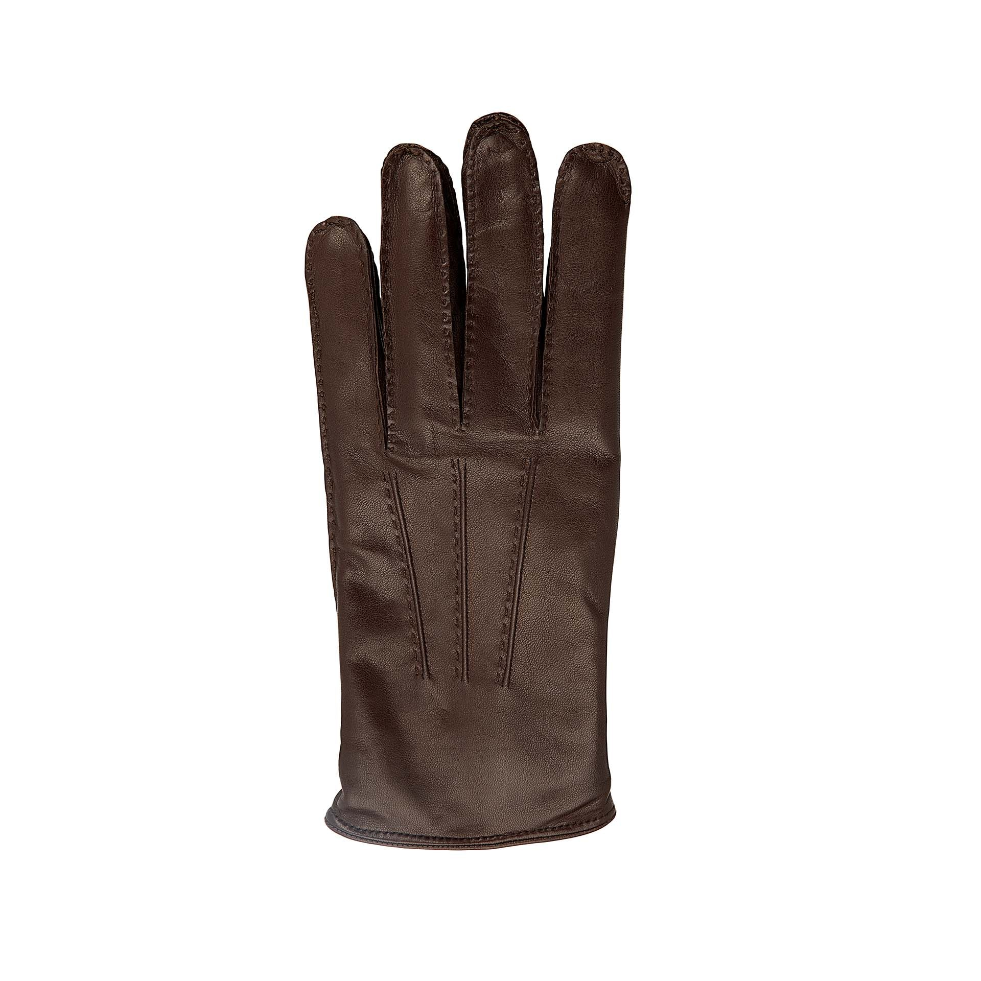 Dark brown leather gloves