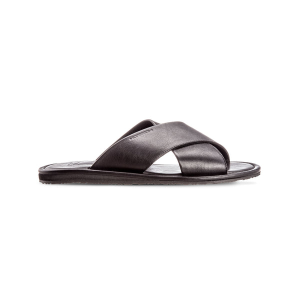 Black soft leather slide shoes Luxury italian shoes