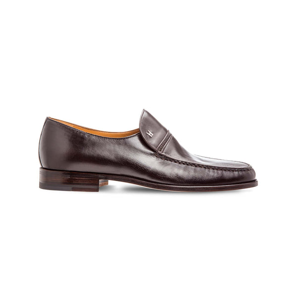 Dark brown lambskin loafer shoes