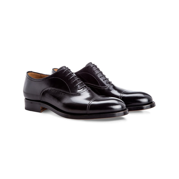Black calfskin Oxford shoes Moreschi Handmade italian shoes