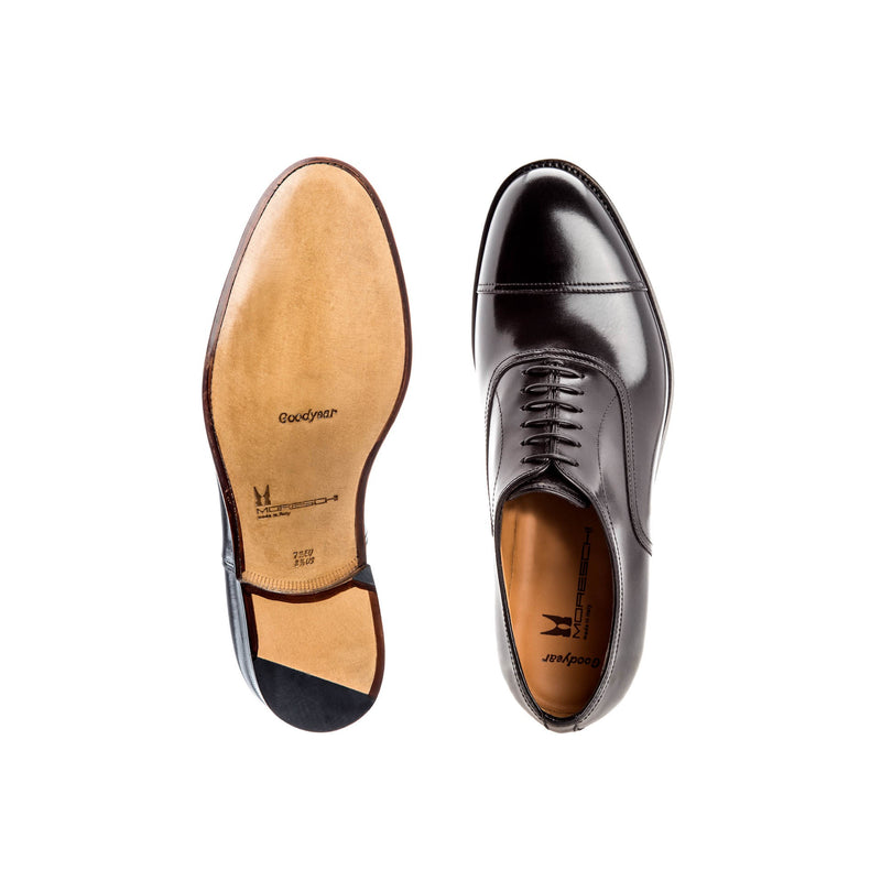 Black calfskin Oxford shoes businessman italian shoes