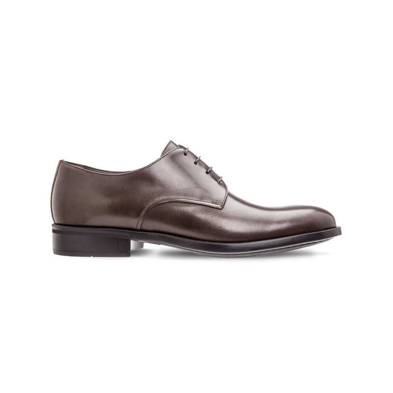 Dark brown buffalo leather derby shoes