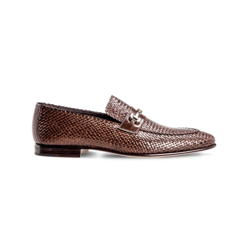 Brown leather loafers Luxury italian shoes