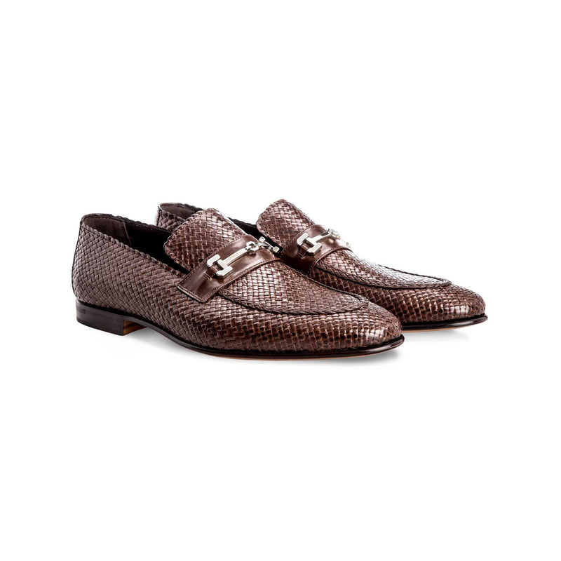 Brown leather loafers Moreschi Handmade italian shoes