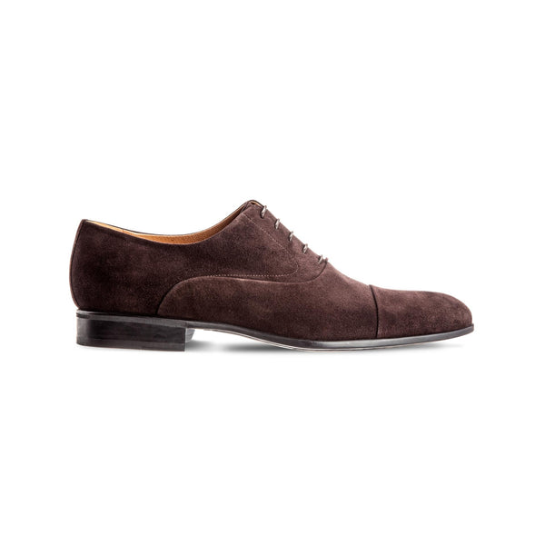 Brown suede leather Oxford shoes
