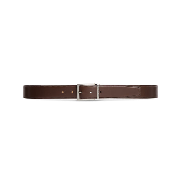 Brown calfskin leather belt