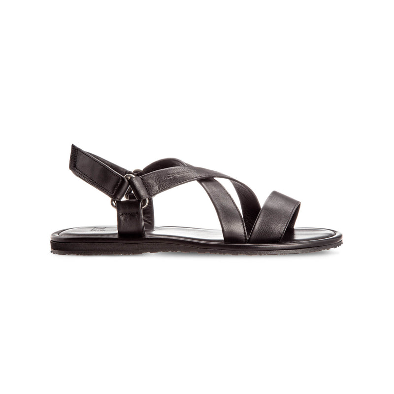 Black soft leather sandals Luxury italian shoes