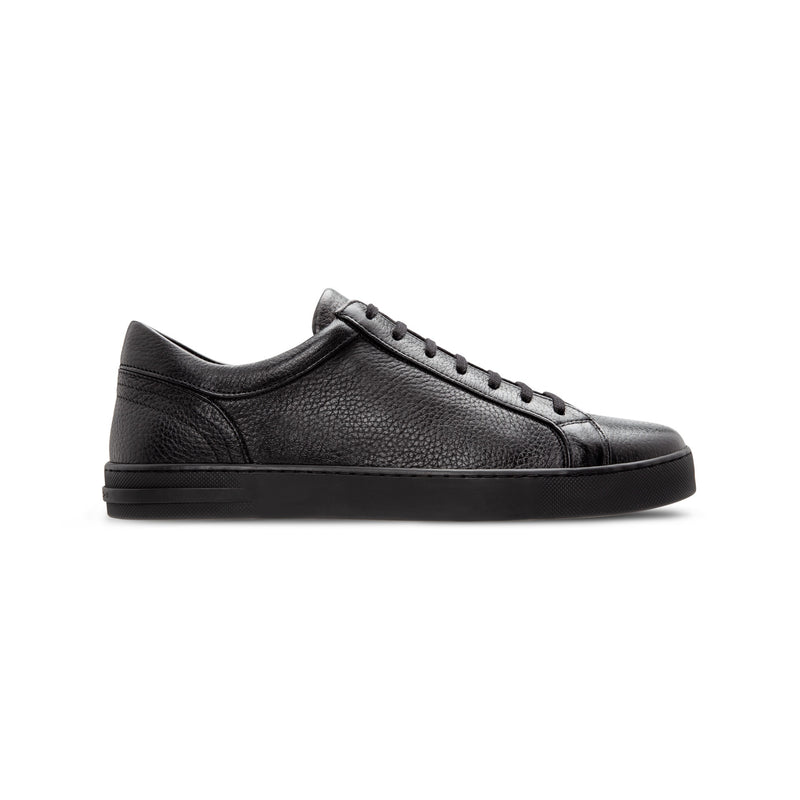 Black deerskin Sneakers Luxury italian shoes