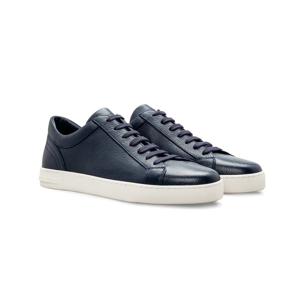 Sneakers in pelle di cervo blu