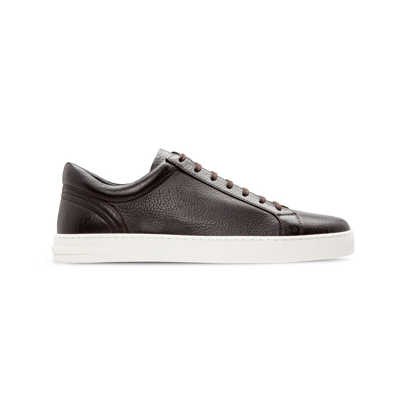 Sneakers in pelle di cervo marrone scuro