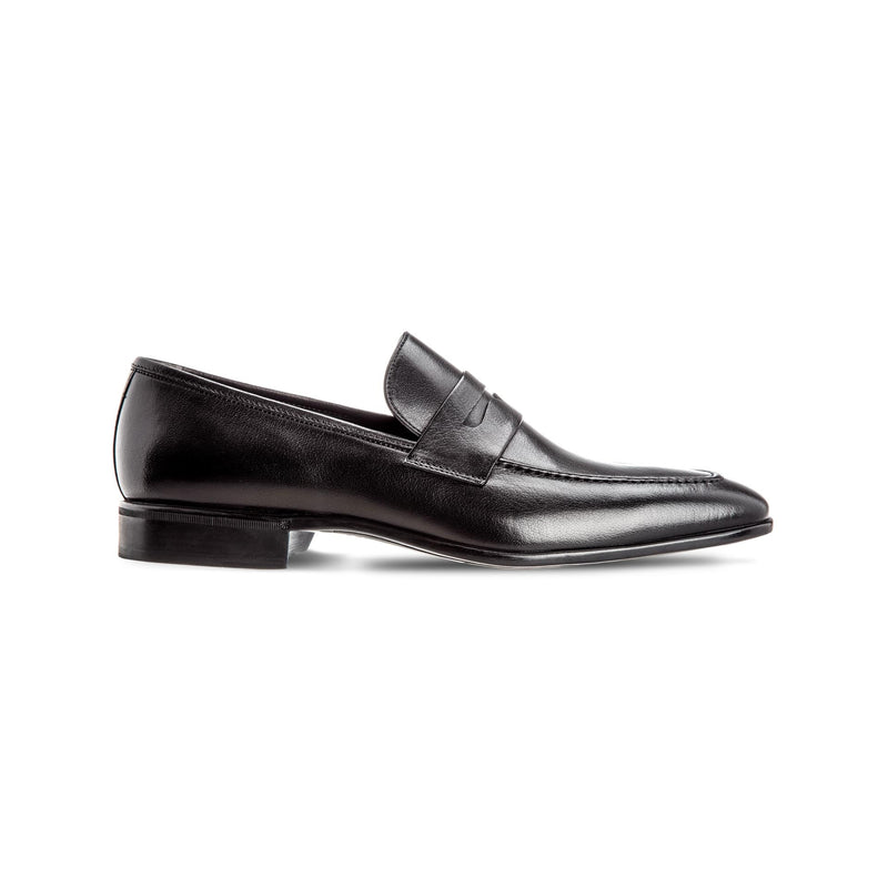 Black buffalo leather loafers Luxury italian shoes