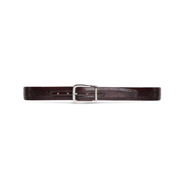 Bordeaux peccary and calfskin belt
