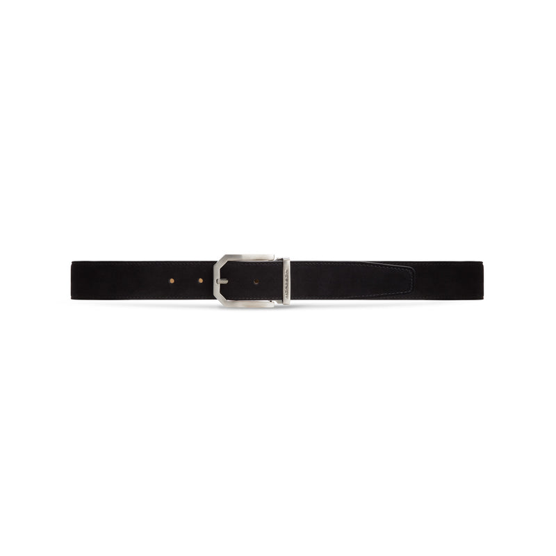Black suede leather belt