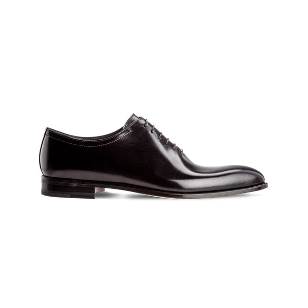 Black antiqued calfskin Oxford Luxury Italian shoes