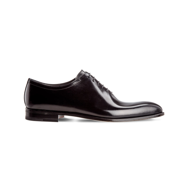 Black antiqued calfskin formal made in Italy shoes