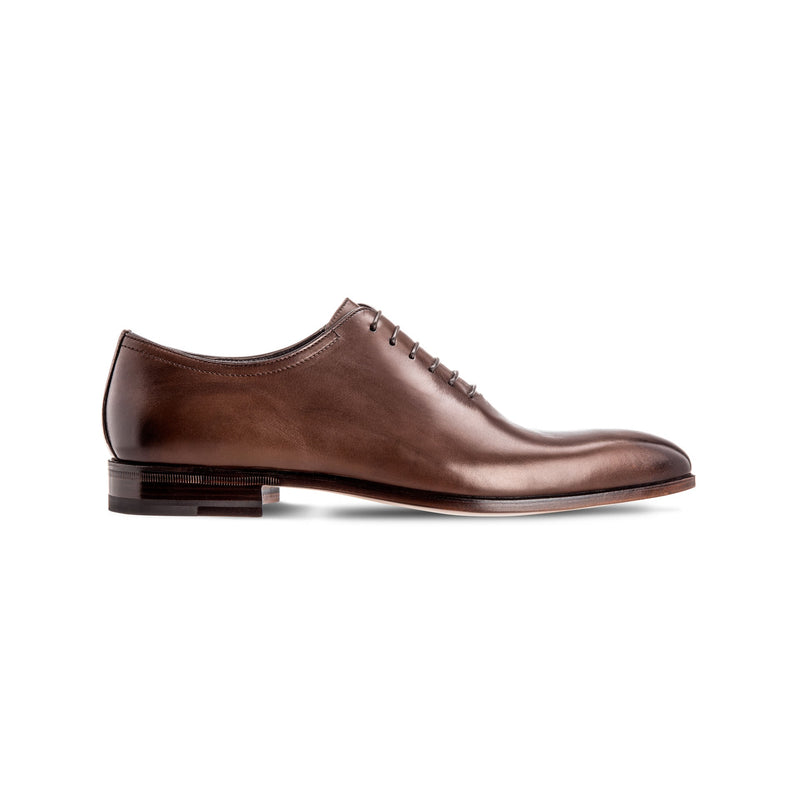 Brown antiqued calfskin Oxford Luxury italian shoes