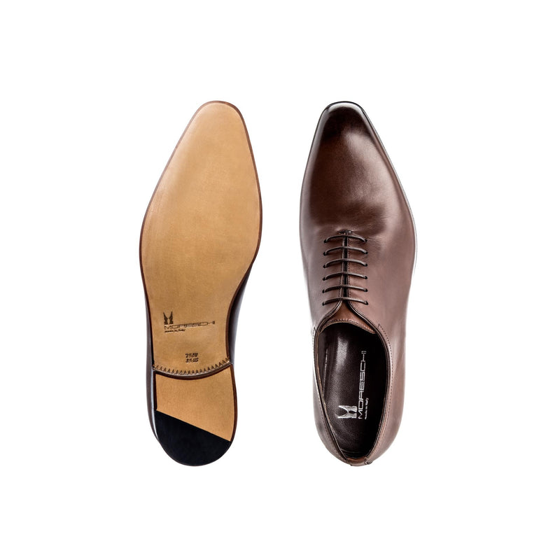 Brown antiqued calfskin Oxford Formal italian shoes