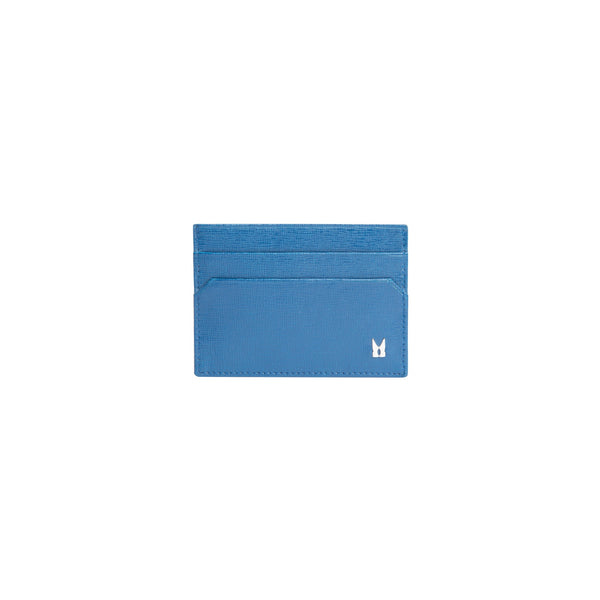 Blue Printed leather credit card holder