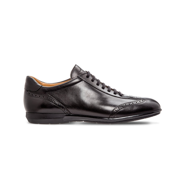 Black calfskin sneakers Luxury italian shoes