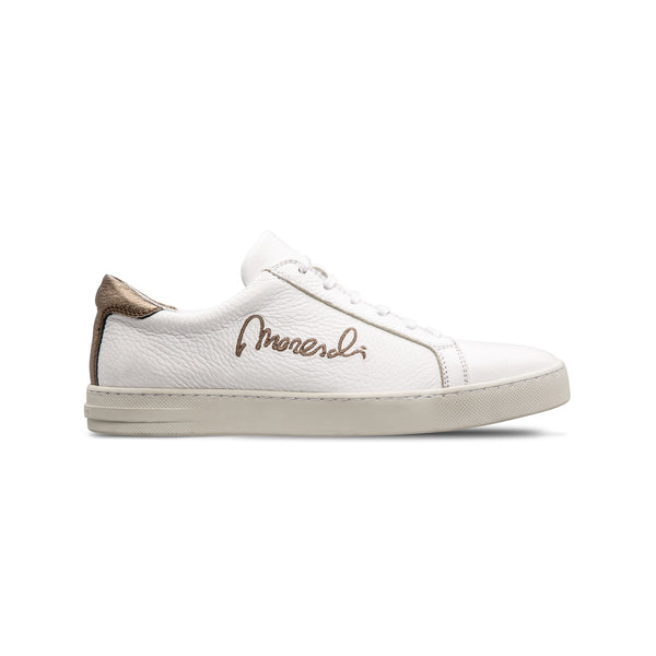 "White deerskin ""Signature"" sneakers"