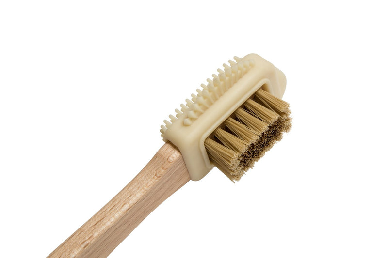 Small wooden shoe cleaning brush for Nubuck and suede leathers
