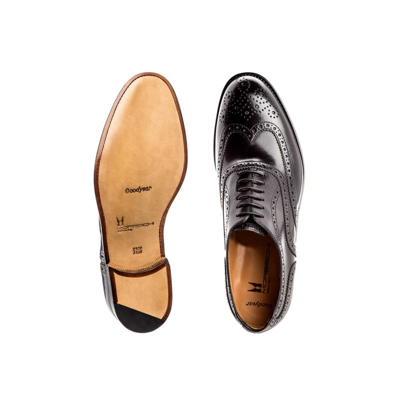 Black calfskin Oxford Moreschi formal italian shoes