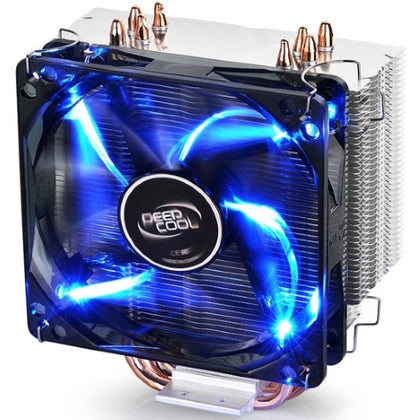 Deepcool Gammaxx 400 CPU Cooler 4 Heatpipes, 120mm PWM LED Fan Intel 130W LGA20XX/1366/115X/1200/775 AMD 125W AM4 AM3+ AM3 AM2+ AM2 FM2+ FM2 FM1