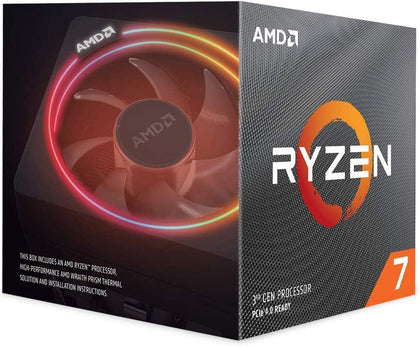 AMD Ryzen 7 3700X, 8 Core AM4 CPU, 3.6GHz 4MB 65W w/Wraith Prism Cooler Fan