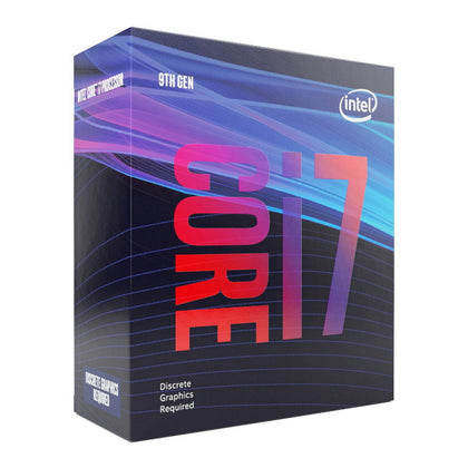 Intel Core i7-9700F 3.0GHz (4.7GHz Turbo) LGA1151 9th Gen 8-Cores 8-Threads 12MB 8GT/s 65W Dedicated Graphics Required Retail Box 3yrs