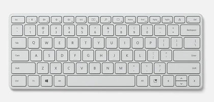 Microsoft Bluetooth Compact Keyboard Bluetooth English Glacier
