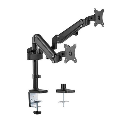 Brateck Dual Monitors Heavy-Duty Aluminum Gas Spring Monitor Arm Fit Most 17-32 Up to 12kg per screen
