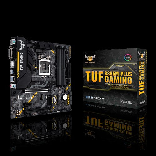 ASUS TUF B365M-PLUS GAMING Intel LGA 1151 mATX Gaming Motherboard with Aura Sync RGB LED Lighting, DDR4 2666MHz support