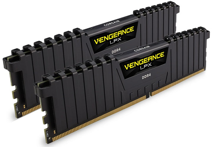 Corsair Vengeance LPX 16GB (2x8GB) DDR4 2400MHz C16 Desktop Gaming Memory Black AMD Ryzen