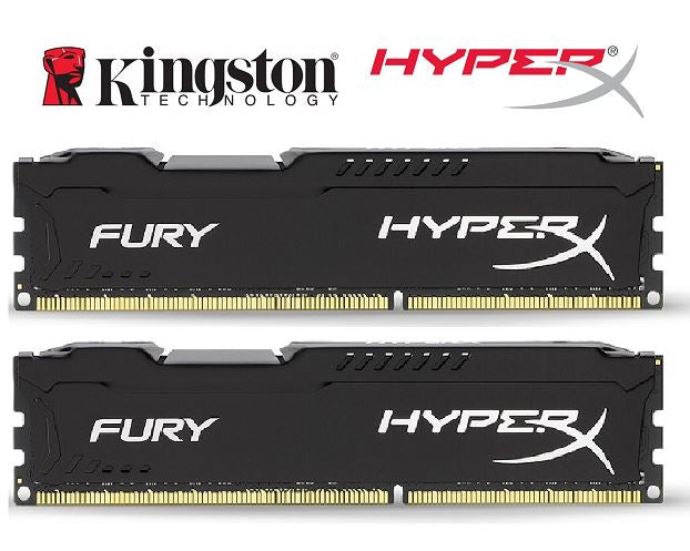 Kingston HyperX Fury 8GB (2x4GB) DDR4 UDIMM 2666MHz CL16 1.2V Unbuffered ValueRAM Double Stick Kit Gaming Desktop PC Memory ~HX426C15FBK2/8
