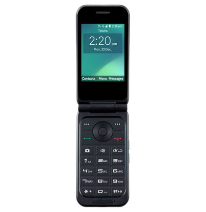 Telstra ZTE Flip 3 (Z2335T) 4GX with External RF Port Black- TELSTRA BLUE TICK - 2.8