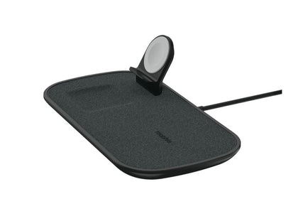 Mophie 7.5W 3-in-1 Fast Wireless Charger Pad Black- For Apple Devices, Charge through Lightweight Case, Stylish Design