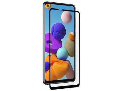 3SIXT PrismShield Classic Curved Glass for Samsung Galaxy A21s - Lightweight, Anti-Scratch, Anti-Smudge, Bubble Free Application, Optical Clarity