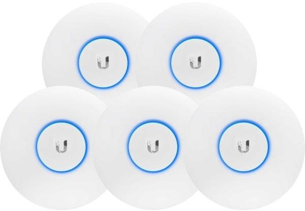 Ubiquiti UniFi Wave 2 Dual Band 802.11ac AP with Security  BLE 5 Pack