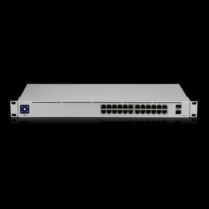 ***NEW Ubiquiti UniFi 24 port Managed Gigabit Switch - 24x Gigabit Ethernet Ports, with 2xSFP - Touch Display - Fanless - GEN2