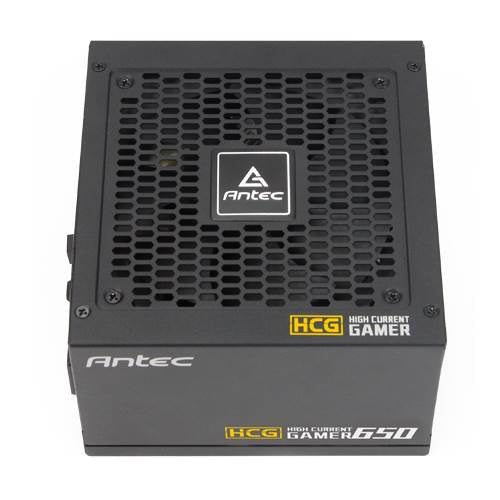 Antec HCG-650G 650w 80+ Gold Fully Modular PSU, 120mm FDB Fan, 1x EPS 8PIN, 100% Japanese Caps, DC to DC, Compact Design. 10 Years Warranty