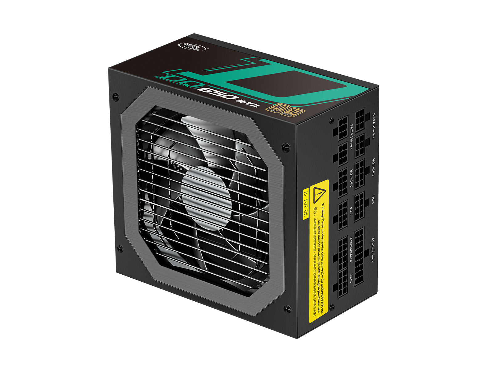 Deepcool GamerStorm DQ650-M-V2L Full-Modular 650W 80+ Gold Power Supply Unit (PSU), Japanese Capacitors, 10-Year Warranty
