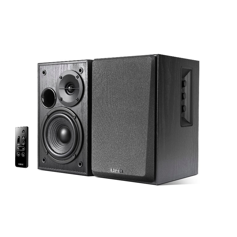 Edifier R1580MB - 2.0 Lifestyle Active Bookshelf Bluetooth Studio Speakers Black /BT4.0/AUX/Bass/Dual Microphone Input for Social Events and Meetings
