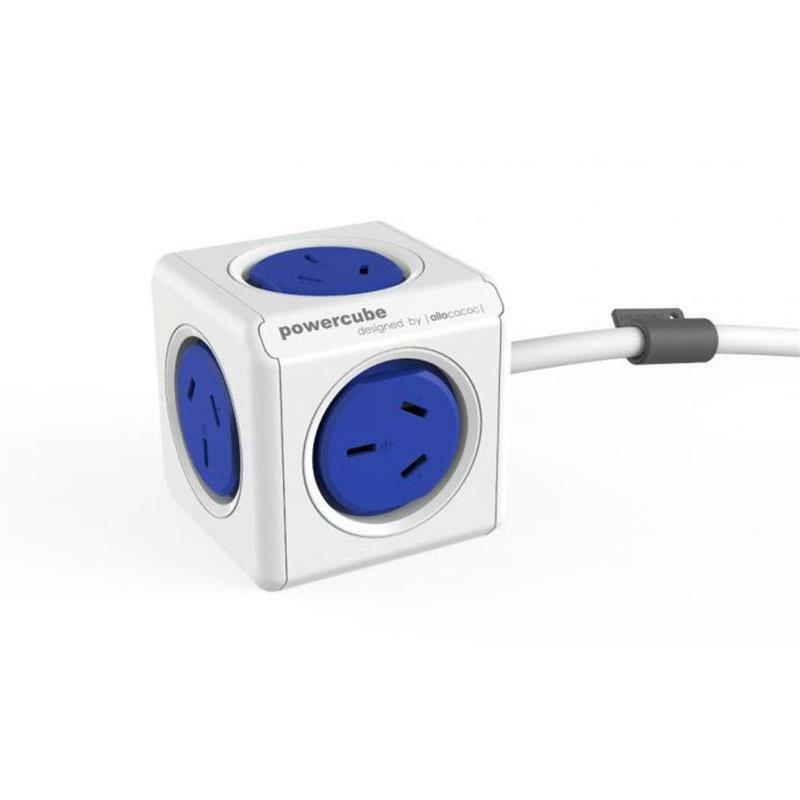 ALLOCACOC POWERCUBE Extended 5 Outlets, 3M - Blue (LS)
