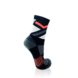 Navy & Coral Stripes Socks