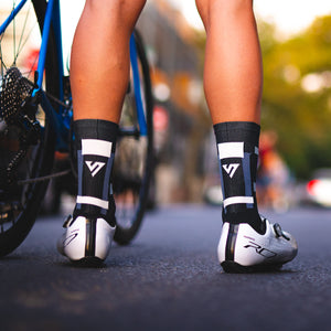 Black Blocks Cycling Socks