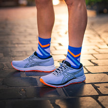Load image into Gallery viewer, Blue & Orange Stripes Socks