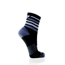 Load image into Gallery viewer, Black & Grey Stripes Running Socks