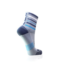 Load image into Gallery viewer, Grey Stripes RUN Socks