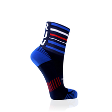 Load image into Gallery viewer, Navy Stripes RUN Socks