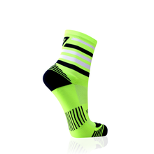 Load image into Gallery viewer, Neon Yellow Stripes Socks
